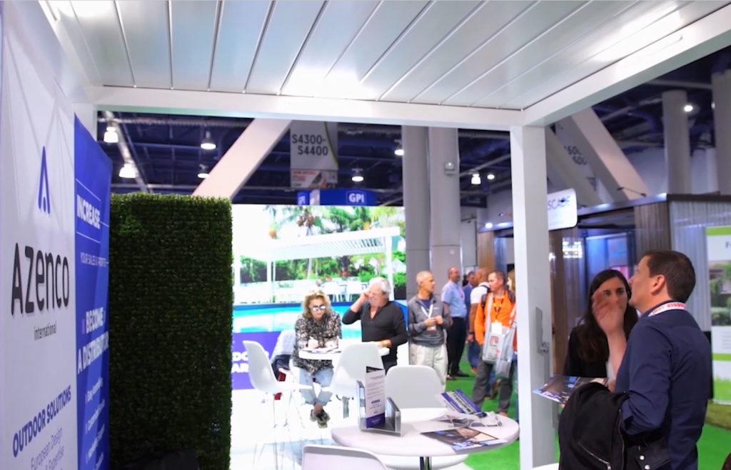 Azenco booth at Tradeshows