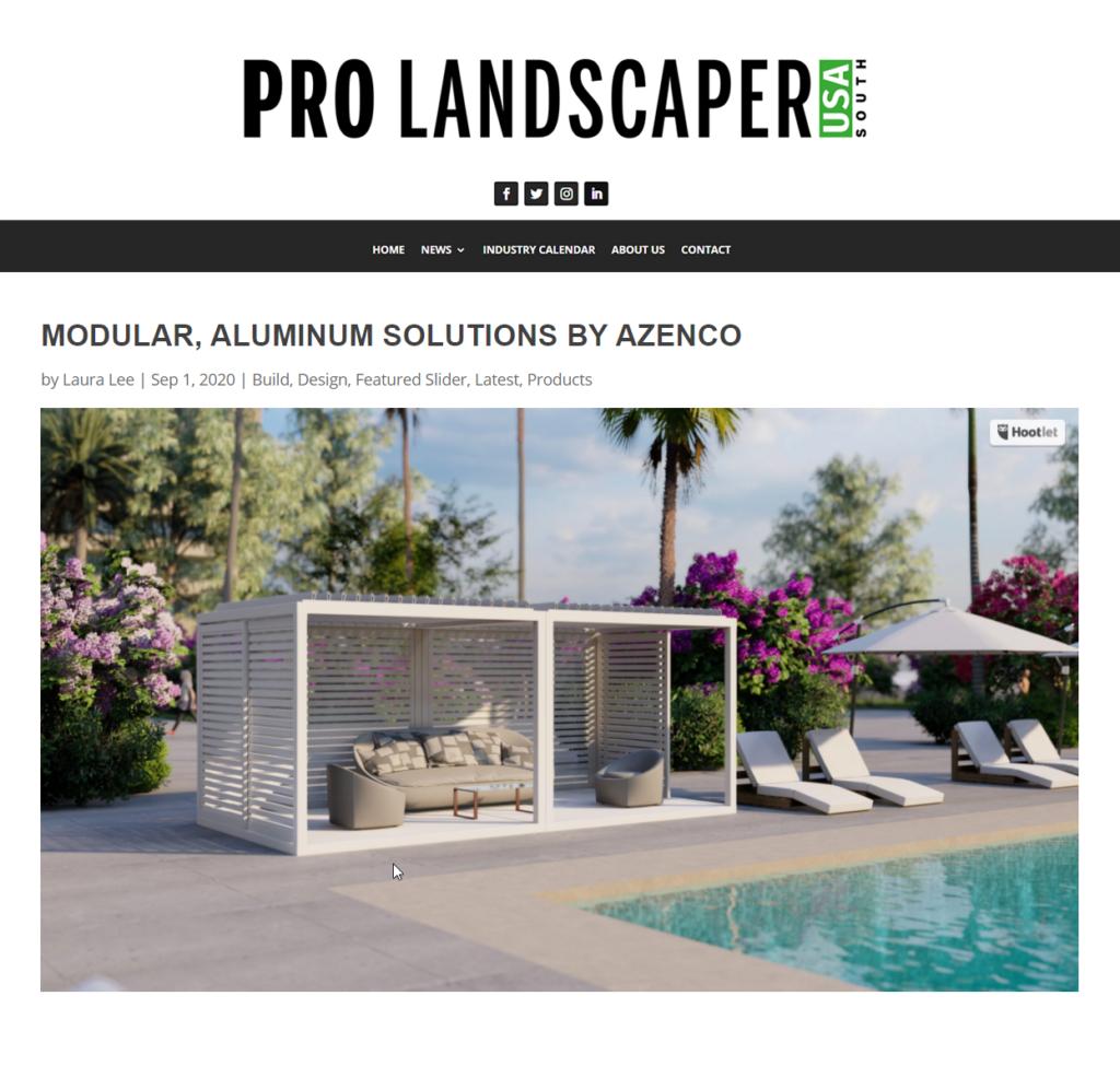 Pro Landscapers - Alumunum outdoor structures
