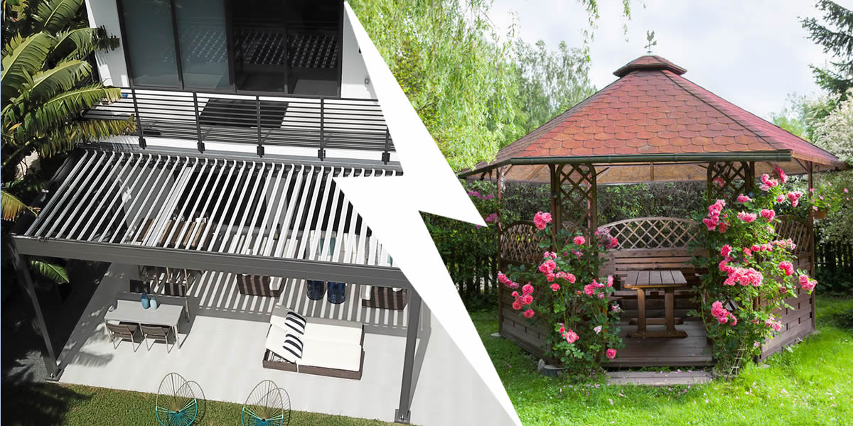 difference between pergola and gazebo